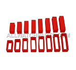 Silicone Strap Keeper Assortment 16mm-30mm (16 PCS) - Red