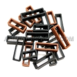 Silicone Strap Keeper Assortment 16mm-30mm (24 PCS) - Black and Brown