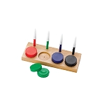 Watch and Clock Precision Oil Cup and Dip Oiler Set Of 4 with Wooden Stand