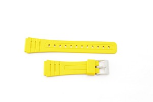 18mm Casio F91WC-9 Yellow Resin Band