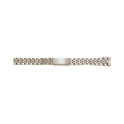 Ladies Metal Watch Band Curved End Silver Color (12mm)