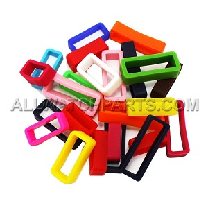 Silicone Strap Keeper Assortment - Mixed Colors, 24pcs