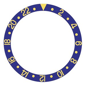 Bezel Insert To Fit Rolex GMT - 40.0mm Blue / Gold Ceramic