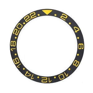 Bezel Insert To Fit Rolex GMT - 40.0mm Black / Gold Ceramic