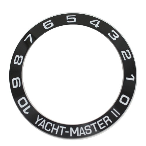 Bezel Insert To Fit Rolex Yacht-Master II - 42.0mm Black / White Ceramic