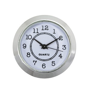"1 1/2"" Silver Wall Clock Quartz Analog Movement Insert with Arabic Numbers"