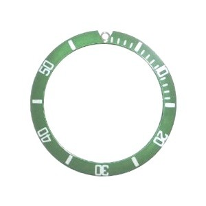 Bezel Insert To Fit Rolex Submariner - 40.0mm Green / White Ceramic