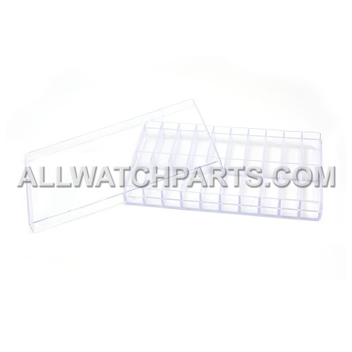 Transparent Plastic Box Organizer with 20 Small Compartments and Lid