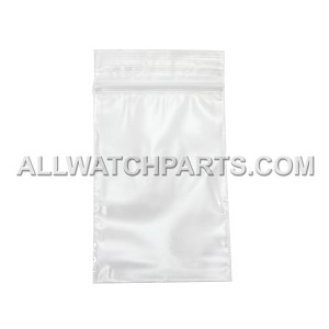 2 x 3 Clear with White Block Resealable Plastic Bag