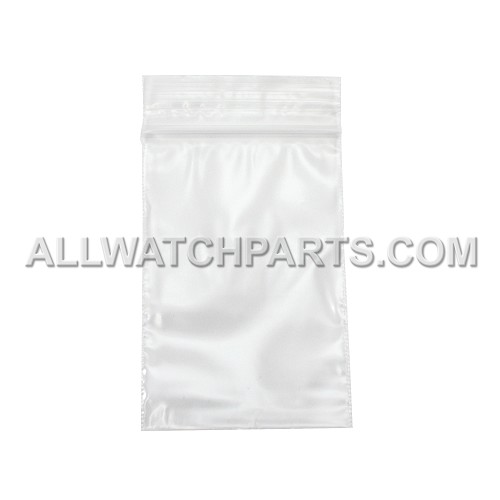 2 x 3 Clear with White Block Resealable Plastic Bag 100pcs