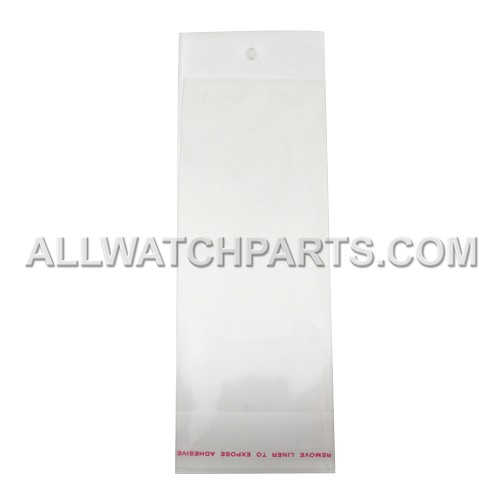 2 x 7.5 Hang Top Clear Cello Bags with White Header