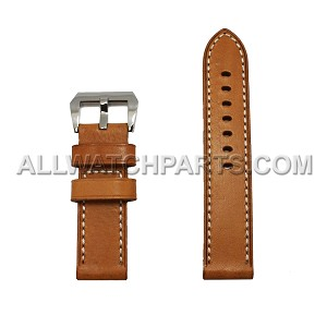Light Brown Panerai Style Genuine Leather Band (24MM)