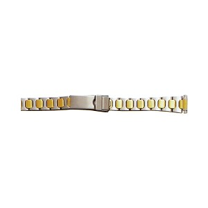 Ladies Metal Watch Band Two Tone Yellow / White Color (10 - 14mm)